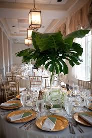 2017 trend tropical leaf greenery wedding decor ideas palms