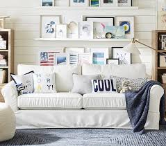 cindy crawford home beachside white denim sofa sofas rooms to