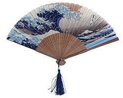 dawningview japanese handheld folding fan with