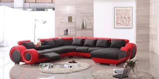 Red Sofa In Living Room by Handsome Big Red Sofa Design With Extraordinary Black Sofa Seating
