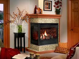 corner gas fireplace binhminh decoration