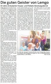 Lippische Landeszeitung Bad Salzuflen Presse Archiv 2016 U203a Hospiz