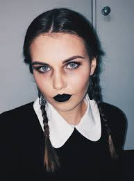 Cool Halloween Makeup by Wednesday Addams Halloween Makeup Costumes Addams Family Makeup