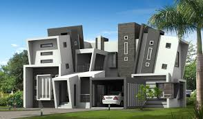 Awesome House Architecture Ideas Modern Irregular Home Architectural Design In White And Grey