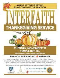 interfaith thanksgiving service church cranbrook