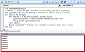 array variables using vba in microsoft excel 2010 microsoft