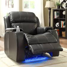 Black Leather Recliner Chair Superior Quality Item Jason Leather Power Recliner With Massage