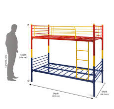 home by nilkamal nemo bunk bed without storage matte finish red
