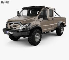 gaz tigr interior gaz vepr next double cab pickup truck 2017 3d model hum3d