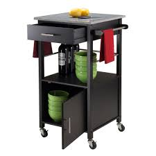 amazon com winsome davenport kitchen cart with granite top