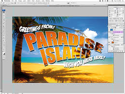 create a simple holiday postcard in photoshop using the clipping