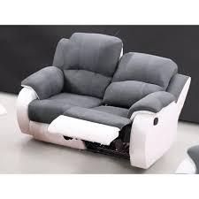 canape 2 places relax canapé 2 places relax en microfibre et simili bilston gris et