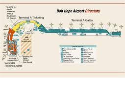 map of burbank ca burbank bob airport terminal map 2627 n way
