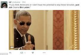Obama Sunglasses Meme - barack obama s ask osama bin laden line from the state of the