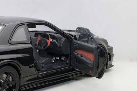 nissan skyline 2005 autoart die cast model nissan r34 gt r z tune skyline black