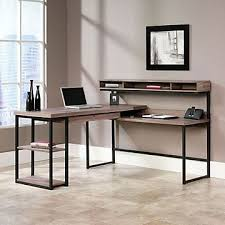 Modern L Shaped Desks Rustic Charm Office Desk Neutral Colors Absolutely
