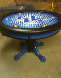 Poker Table Pedestal Round Custom Poker Table