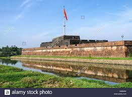 Flag Complex The Vietnamese Flag Flies Over The Citadel At The Imperial City In