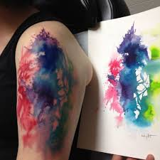 best watercolor tattoo 2017 trend watercolor tattoo abstract