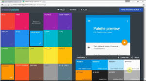 android color choose colors for android apap and generate color palette in xml