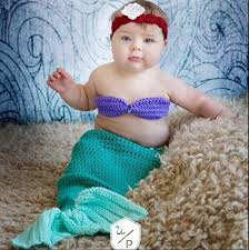 Mermaid Halloween Costume Toddler Crochet Mermaid Costume Ariel Mermaid Crochet Baby