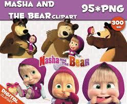 masha bear clipart 95 png 300dpi images digital clip