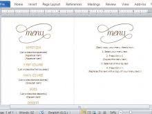 dinner menu template free free resume