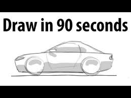 how to draw a car sketch it quick youtube