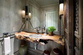 Rustic Industrial Bathroom - industrial chic bathroom industrial with modern vessel sinks