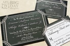 Gatsby Invitations 1920 U0027s Style Great Gatsby Wedding Invitation Hollywood Gatsby