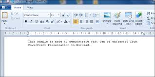 Count Words In A Document In Wordpad Extract Text From Powerpoint Presentation To Wordpad In C Vb