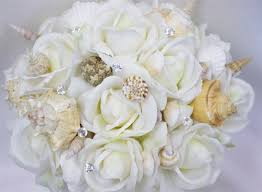 Seashell Bouquet Bouquet Seashells For Beach Weddings