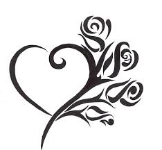 tribal heart and flower tattoo designs free download clip art