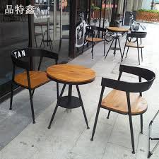 Coffe Shop Chairs Brilliant Outside Cafe Tables Industrial Retro Bar Old Wrought