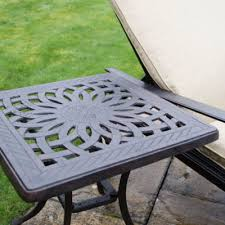 outdoor furniture side table aluminium garden furniture solid metal patio sets outside edge