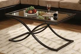 Glass And Metal Coffee Tables Glass Metal Coffee Table Afla