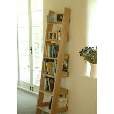 Brown Ladder Shelf Furniture Light Brown Wooden Ladder Shelf With Leaning Ideas For