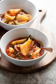 quick spicy tomato vegetable soup gourmande in the kitchen