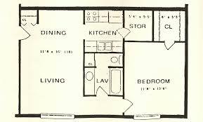 Large One Bedroom Floor Plans   pastore communities pastore builders