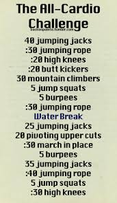 Challenge With Water All Cardio Challenge With Water Cardio That Isn T