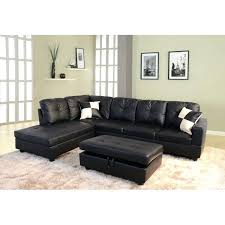 Black Leather Reclining Sectional Sofa Dobson Black Leather Modern Sectional Sofa Small Black Leather