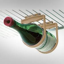 hanging refrigerator wine holder