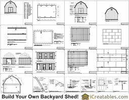 16x20 Gambrel Shed Plans 16x20 Barn Shed Plans Free Floor Plans For Barns