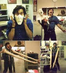 fx prosthetics for halloween photos of bruce campbell testing prosthetics for army of darkness