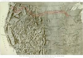Map Of The Western United States Shaded Relief Maps Of The United States Large Detailed Shaded