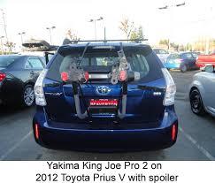toyota prius bike rack will yakima kingjoe pro 3 bike rack y02625 fit on 2013 toyota