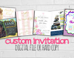 custom invitation custom invitations etsy