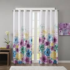 Yellow And Purple Curtains Floral Curtains Drapes For Less Overstock