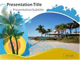 beach themed powerpoint template 124 best travel and tourism