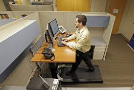 Rent Treadmill Desk More Americans Exercise At Work With Desk Cycles Exercise Balls